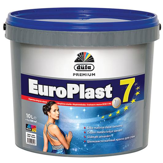 DUFA EUROPLAST 7 šilko matiniai vidaus sienų dažai