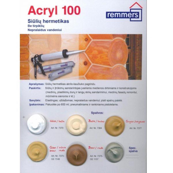 REMMERS ACRYL 100 sandarinimo priemonė pav