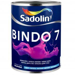 SADOLIN BINDO 7 šilko - matiniai sienų dažai
