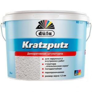 DUFA KRATZPUTZ akrilinis dekoratyvinis tinkas (akmenukų struktūra)