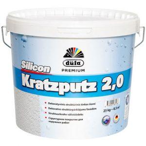 DUFA SILICON KRATZPUTZ 2.0 silikoninis tinkas (akmenukų faktūra)