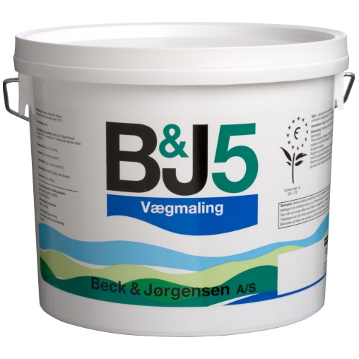 BECK & JORGENSEN B&J 5 VAEGMALING matiniai, plaunami dažai vidaus sienoms ir luboms