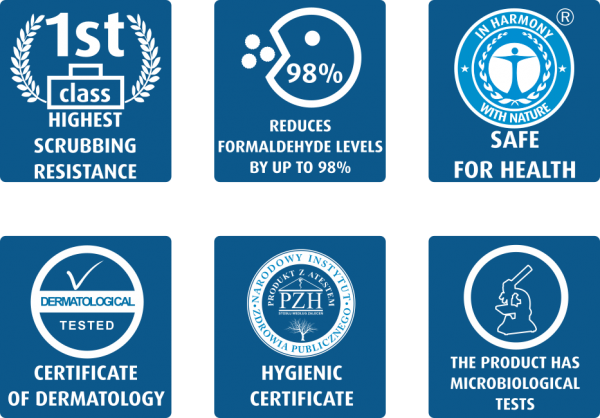 LAKMA ACTIVE CARE keramikiniai dažai sertifikatai